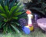 crazy chicken sculpture