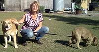 snaoon with dogs martha & winn dixie