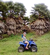 elizabeth on her ATV