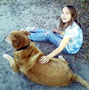 elizabeth & martha the dog