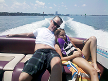 Sam & elizabeth on boat
