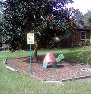 yard sculpture at sugarcane farm
